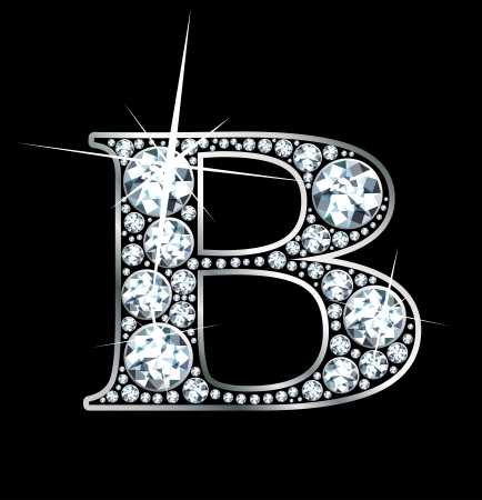 diamond letters: a stunning beautiful diamond b