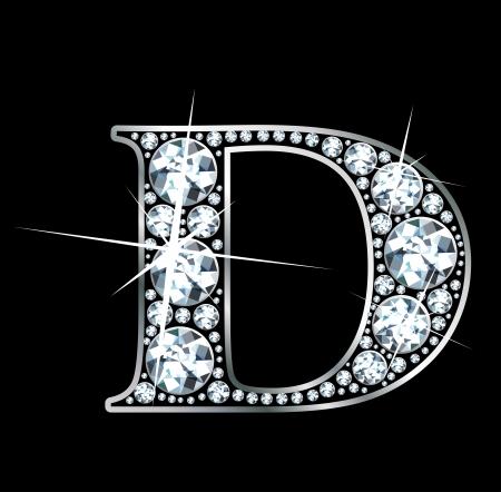 a stunningly beautiful diamond d Vector