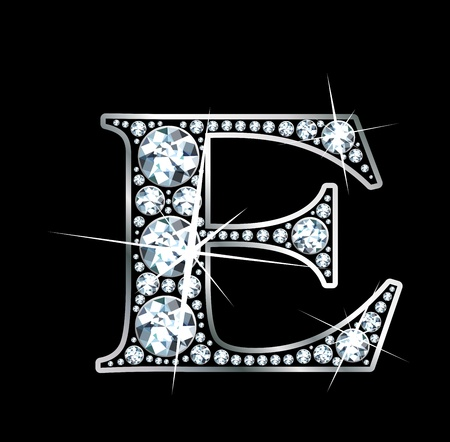 diamond letters: A stunningly beautiful diamond E