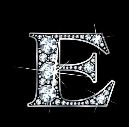 """Een verbluffend mooie diamant """"E"""" Stock Illustratie"""