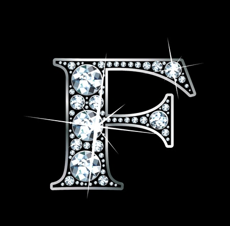 diamond letters: A stunningly beautiful diamond F