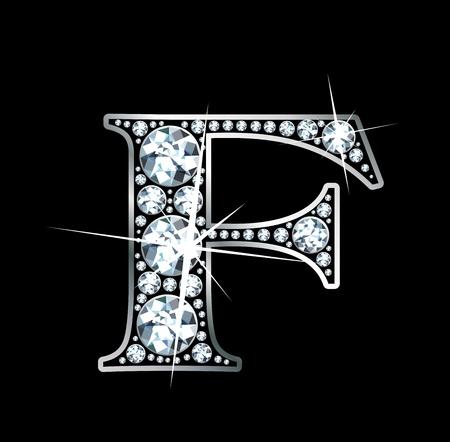 """diamond letter: Un diamante incredibilmente bello """"F"""" Vettoriali"""