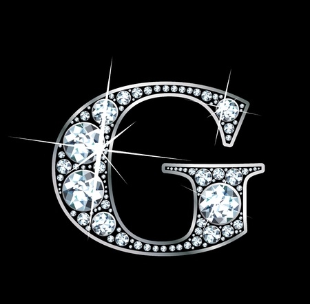 diamond letters: A stunningly beautiful diamond G Illustration