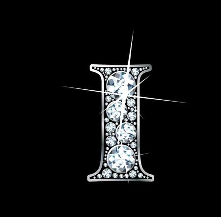 diamond letter: Ho una bella bellissima diamante Vettoriali