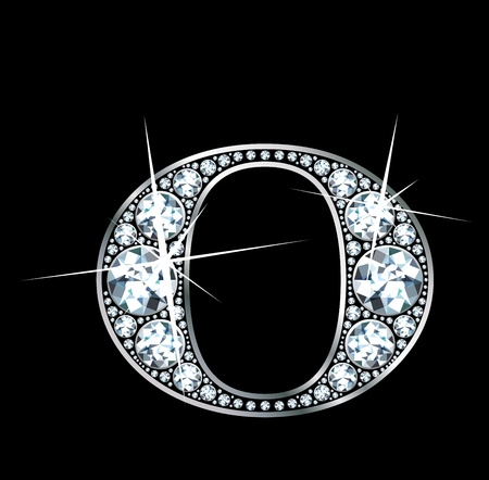 diamond letters: a stunningly beautiful diamond O Illustration