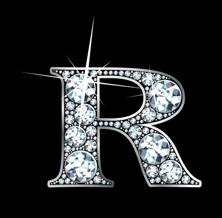 diamond letter: Un splendido diamante bello R