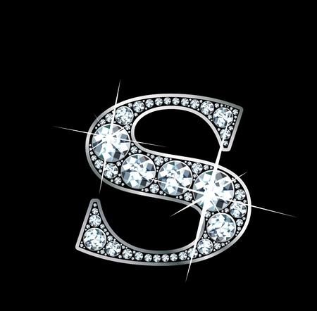 lettre s: Un diamant incroyablement bel « S » Illustration