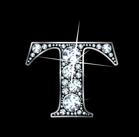 diamond letters: a stunningly beautiful diamond T