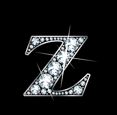 diamond letters: a stunningly beautiful diamond Z