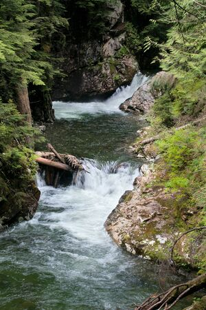 Franklin Falls on Denny Creek in the Mt. Baker-Snoqualmie National Forest, near Snoqualmie Pass, Washington.