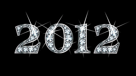 Stunningly beautiful 2012 set in diamonds and silver  Vettoriali
