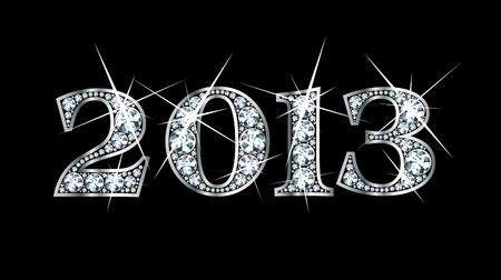 Stunningly beautiful 2013 set in diamonds and silver  Vettoriali