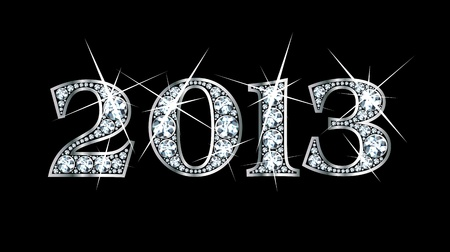 Stunningly beautiful 2013 set in diamonds and silver  Illustration
