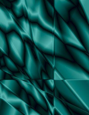 美しいティール ステンド グラス効果、背景に最適 写真素材