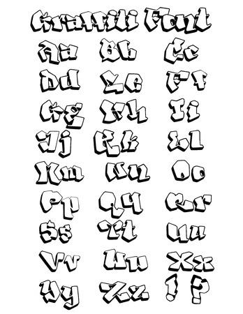 modificar: Diversión esbozado fuente graffiti, dibujado a mano, no trazado, la construcción de expertos, fácil de modificar el diseño y agregar colores