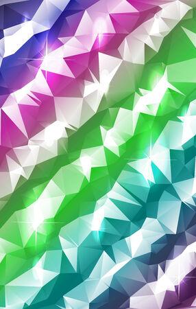 zeitlos: Helle Pastellstreifen in einer trendigen polygonale Zusammenfassung mit funkelnden Lichtern gemacht