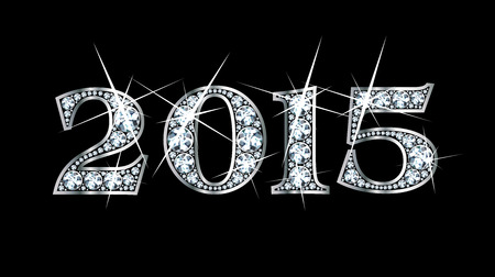驚くほど美しい「2015」ダイヤモンドと銀で設定します。