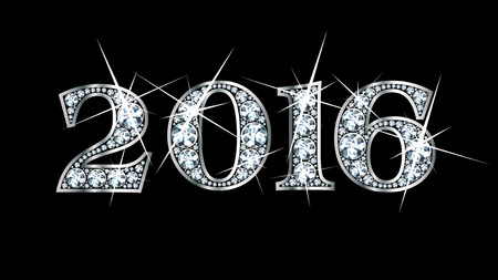 Stunningly beautiful 2016 set in diamonds and silver. Vector