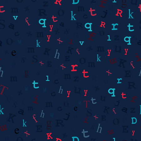 type writer: Midnight blue background with pastel-colored type with transparency layer for easy color change. Illustration