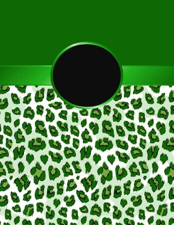 pelt: Green leopard print with a rosette for your design.