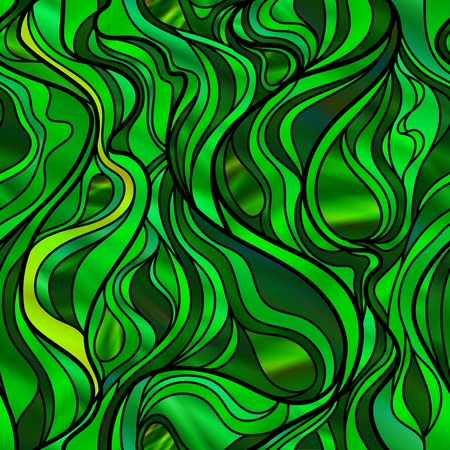 stunning: Stunning seamless abstract stained glass window design, in green tones.