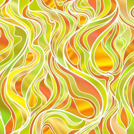 stunning: Stunning steamless abstract stained glass window design, in yellow and orange  tones. Illustration