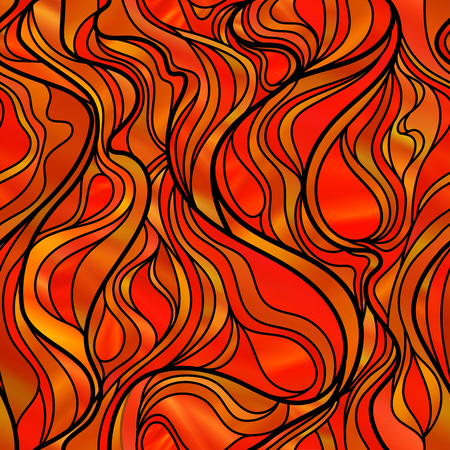 glass windows: Stunning seamless abstract stained glass window design, in orange tones.