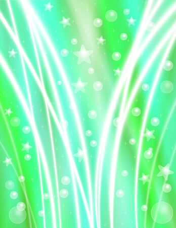 light beams: Festive Blue Green Celebration Background with Stars, Bubbles and Light Beams