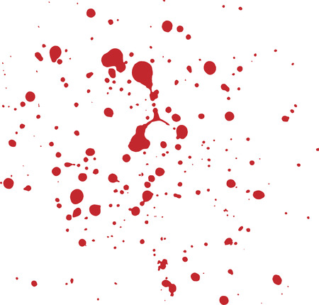 Red watercolor paint splatters and drips, graphic resource for your project. Ilustracja