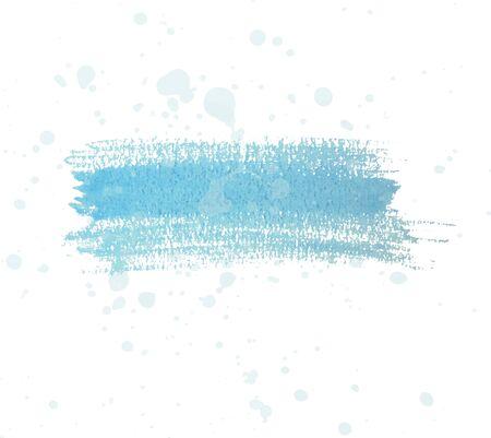dry brush: Blue watercolor dry brush strokes and translucent paint splatters. Illustration