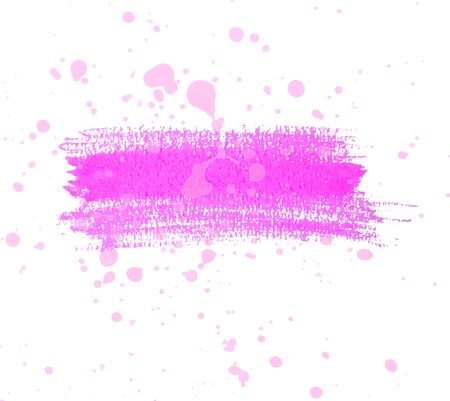 dry brush: Pink watercolor dry brush strokes and translucent paint splatters. Illustration
