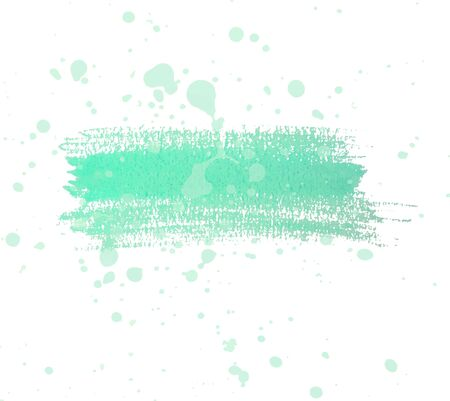 Teal watercolor dry brush strokes and translucent paint splatters.