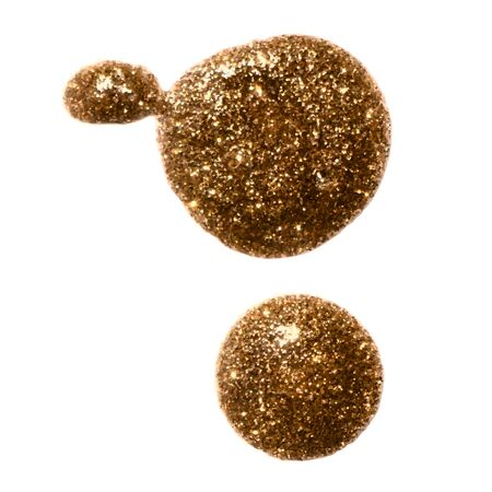 gold rush: Two gold metallic glitter paint blobs for your design background.