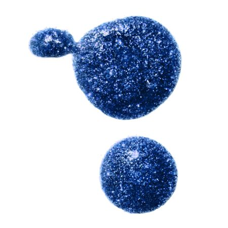Two blue metallic glitter paint blobs for your design background.