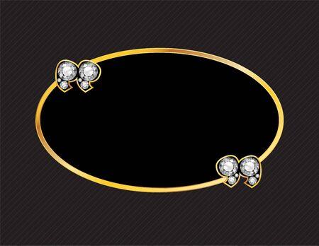 diamond stone: Diamond Stone Quotes on Gold Metal Speech Bubble over Pinstripe Background