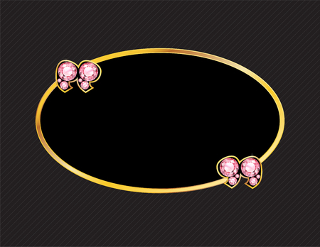 quartz: Rose Quartz Stone Quotes on Gold Metal Speech Bubble over Pinstripe Background