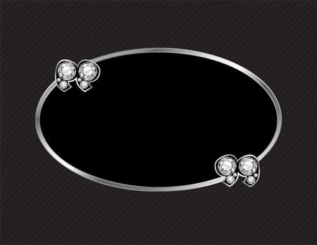 jewel box: Diamond Stone Quotes on Silver Metal Speech Bubble over Pinstripe Background