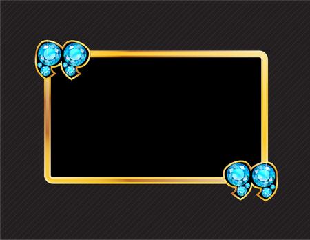 jewel box: Aquamarine Stone Quotes on Gold Metal Speech Bubble over Pinstripe Background