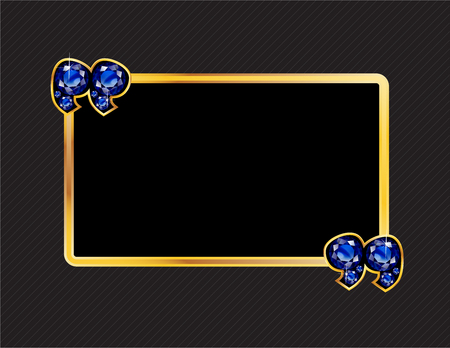 sapphire: Sapphire Stone Quotes on Gold Metal Speech Bubble over Pinstripe Background