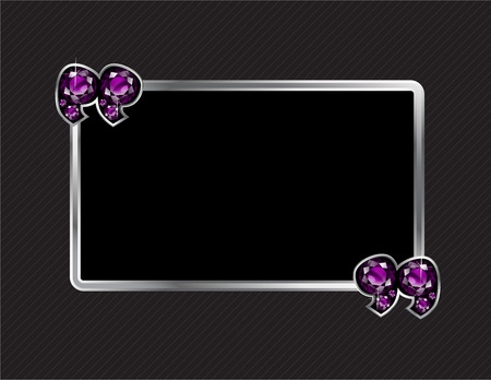 jewel box: Amethyst Stone Quotes on Silver Metal Speech Bubble over Pinstripe Background Illustration