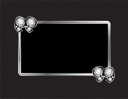 jewel box: Stone Quotes on Silver Metal Speech Bubble Diamond over Pinstripe Background