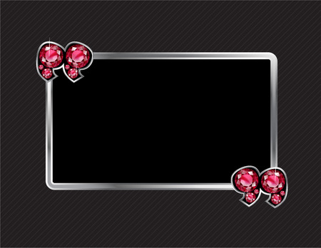 ruby stone: Ruby Stone Quotes on Silver Metal Speech Bubble over Pinstripe Background Illustration