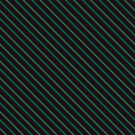 Green neon stripes over a black background, seamless.