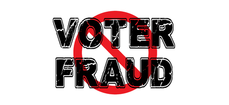 Ban voter fraud, the practice of manipulating the outcome of democratic elections. Illustration