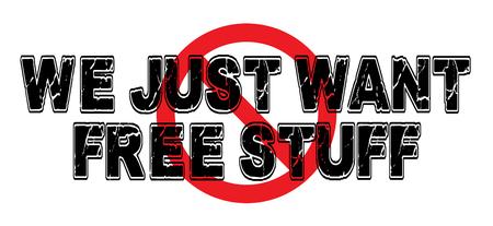Ban We Just Want Free Stuff, regarding the entitlement class.