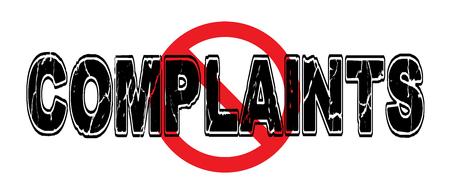 Verbod op klachten, uiting van ontevredenheid.