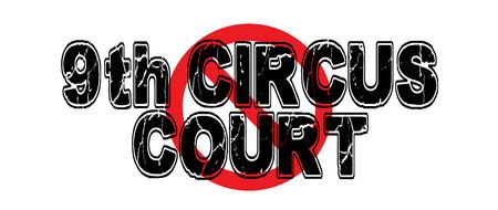 Verbot der 9. Circus Court, eine wunderliche nehmen auf dem neunten Circuit Court of Appeals, die die Mehrheit seiner Entscheidungen später aufgehoben hat. Standard-Bild - 74356306