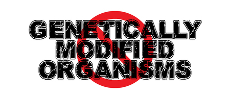 Ban Genetically Modified Organisms, food that is tampered with and is unhealthy for animals and humans. 向量圖像