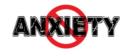 Ban Anxiety, the tendency to worry, to be nervous about an upcoming event, or generalized unease. 向量圖像