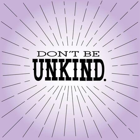 思いやりのない感動的な記号、メッセージの反いじめはいけません。